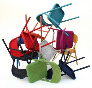 Felt Chair, by Tanya Aguiñiga