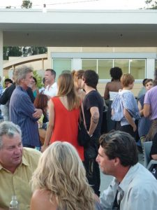 The PMCA rooftop was a scene at the Biennial opening