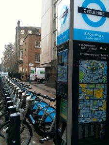 Barclays Cycle Hire Program in Central London, started July 2010