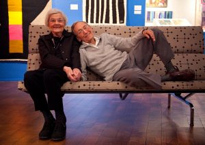 Jerome and Evelyn Ackerman, at their show