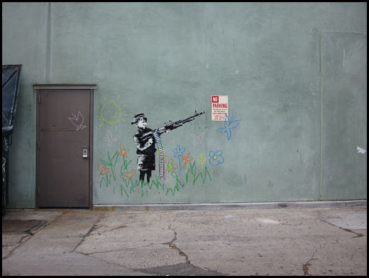 One of Banksy's works. Photo courtesy of Melrose & Fairfax.