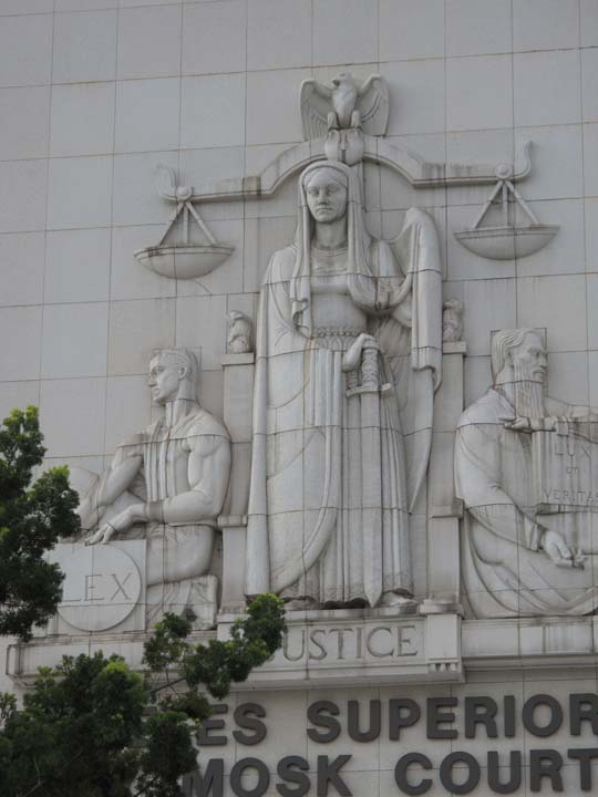 The Los Angeles Superior Court - check out how much blank space surrounds the relief on the front of the building.