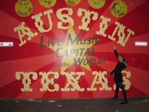 me and live music capital sign